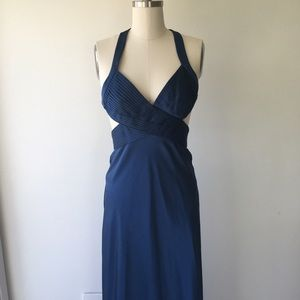 BCBGMaxAzria Dresses - BCBG Navy Maxi Dress